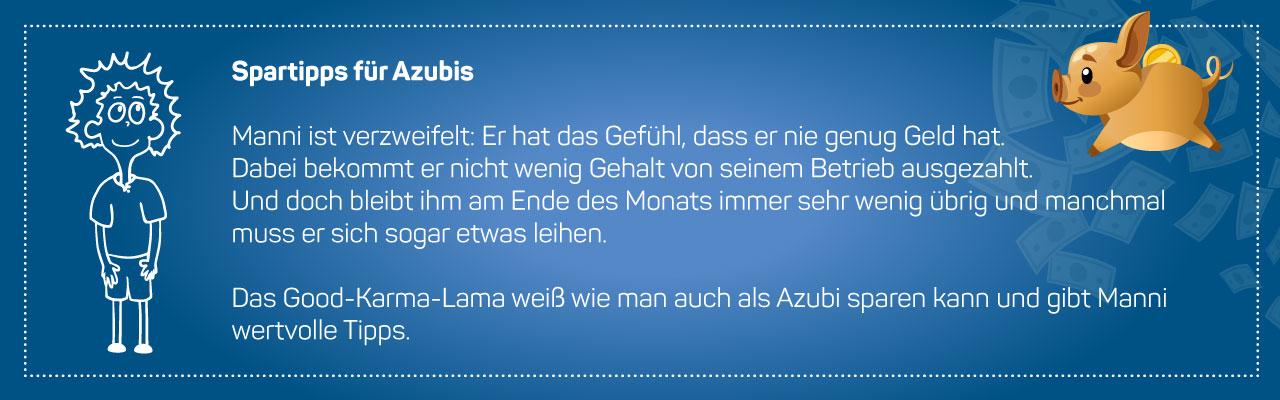 Spartipps für Azubis vom Good Karma Lama